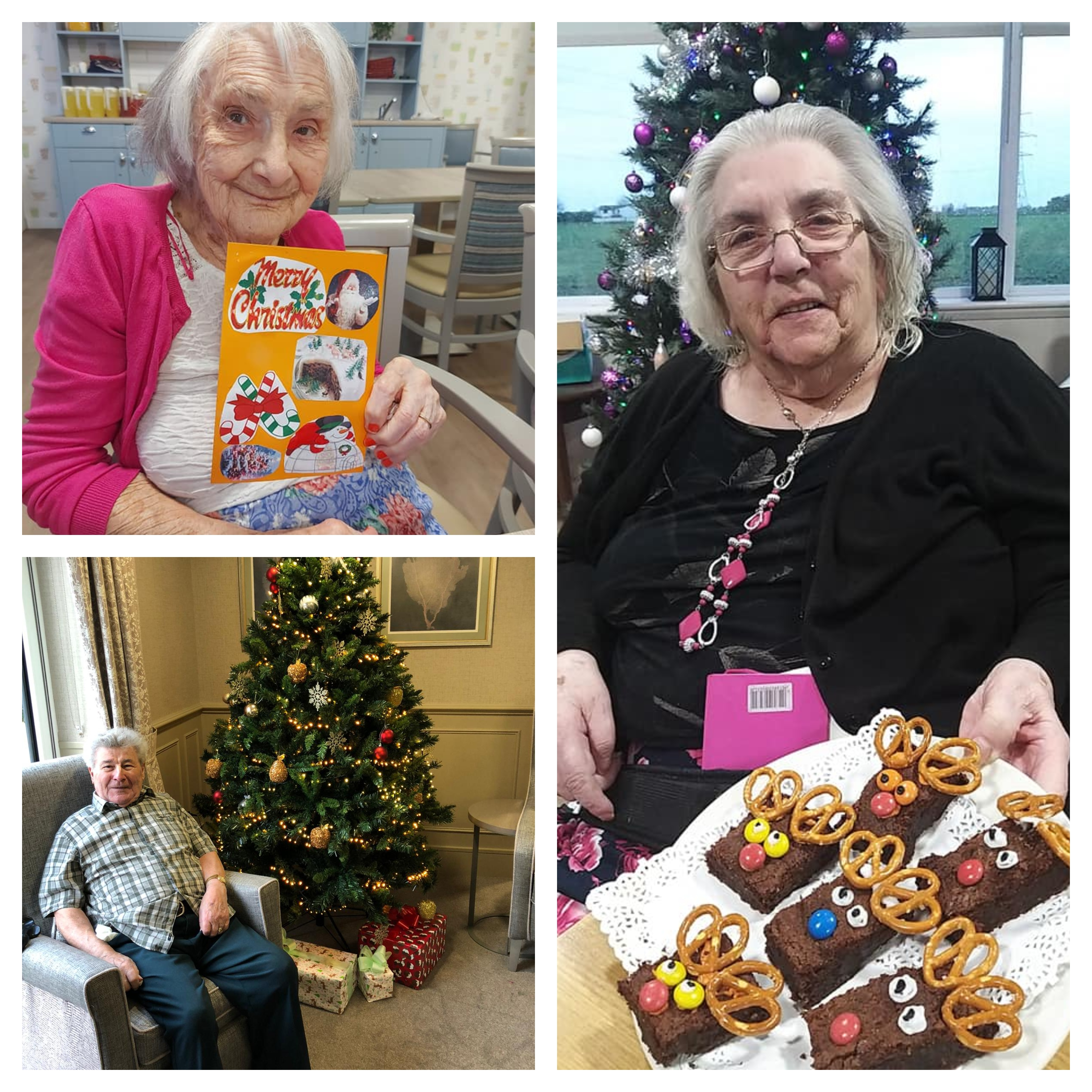 Residents at Country Court Care Homes taking part in various festive crafts and activities